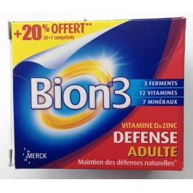 Bion 3 Adultes 30 Comprimés + 7 comprimés OFFERT