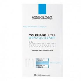 La Roche Posay Tolériane démaquillant yeux et visage 2x30 doses 5ml