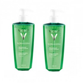 Vichy Normaderm Gel Nettoyant Purifiant Lot de 2 x 400 ml