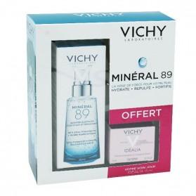 Vichy coffret mineral 89 50ml + idealia crème 15ml OFFERT