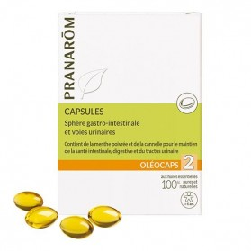 Pranarôm oléocaps 2 sphère gastro-intestinale et voies urinaires 30 capsules