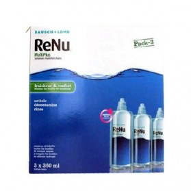 Renu Multiplus Fraicheur et Confort Solution Multifonctions Lentilles souples 3 flacons de 360ml + 3 étuis