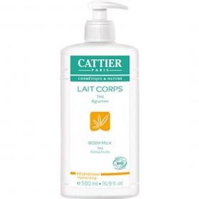 CATTIER - Lait corps régénérant thé agrumes, 500 ml