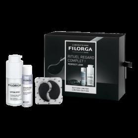 FILORGA - COFFRET - PERFECT LOOK - Optim'Eyes, 15ml + Optim'Eyes Lotion, 110ml + Optim'Eyes Patch, 8 x 2 patchs