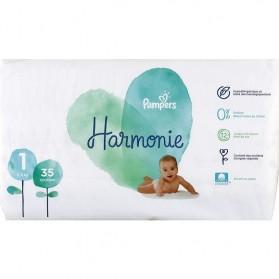 PAMPERS HARMONIE couche T1 géant paquet/35