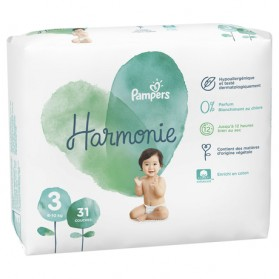PAMPERS HARMONIE couche T3 géant paquet/31