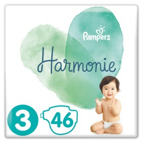 PAMPERS HARMONIE couche T3 jumbo paquet/46