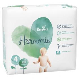 PAMPERS HARMONIE couche T4 géant paquet/28