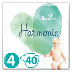 PAMPERS HARMONIE couche T4 jumbo paquet/40