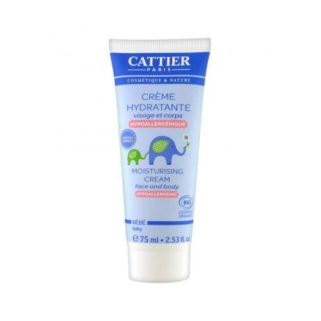 Cattier Bébé Crème Hydratante Hypoallergénique 75 ml