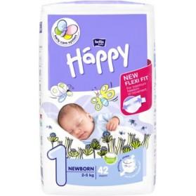 HAPPY Couche bébé T1 2-5kg paquet de 42