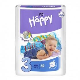 HAPPY Couche bébé T3 5 à 9kg paque de 52