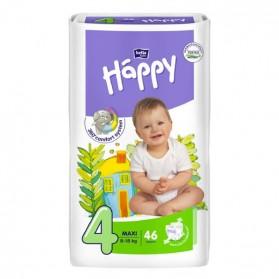 HAPPY Couche bébé T4 5 à 18kg paquet de 46