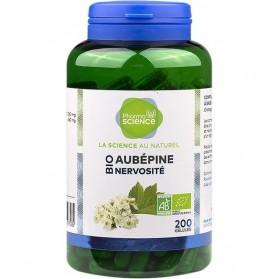 PHARMASCIENCE Aubépine Nervosité Bio - 200 gélules