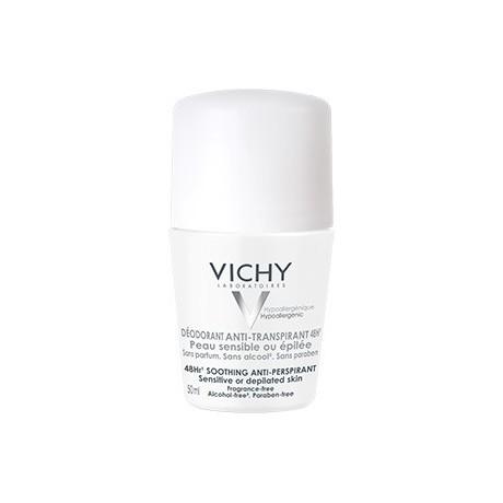 Vichy Déodorant Anti-Transpirant 48H peau sensible ou épilée 50ml