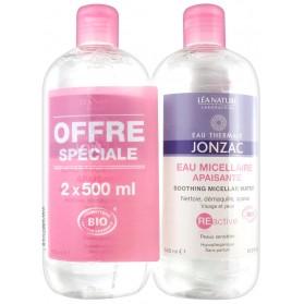 Eau de Jonzac Reactive Eau Micellaire Apaisante Lot de 2 x 500 ml