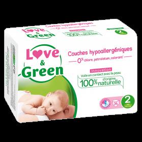 LOVE AND GREEN COUCHE T2 3-6 kilo X 36
