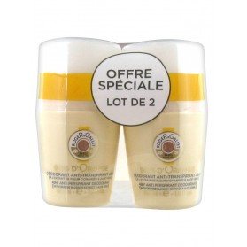 Roger & Gallet Déodorant Anti-Transpirant 48H Bois d'Orange Lot de 2 x 50 ml