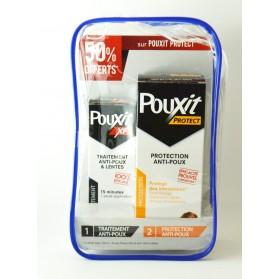 Trousse Pouxit - Lotion anti Poux Extra Forte, Pouxit XF, 100 ml + Pouxit Protect Protection anti-poux, 200 ml A -50%
