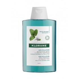 Klorane Shampoing Anti-Pollution Détox à la Menthe Aquatique 200 ml
