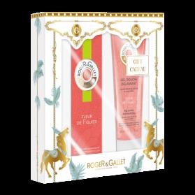 ROGER & GALLET - COFFRET - FLEUR DE FIGUIER - Eau Parfumée Bienfaisante, 30ml + Gel Douche Délassant, 50ml Offert