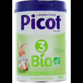 Picot 3 lait 3ème âge Bio 800 g