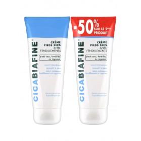 CicaBiafine Crème Pieds Secs Anti-Fendillements Lot de 2 x 100 ml