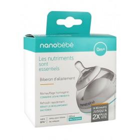 Béaba Nanobébé Biberon d'Allaitement 0 Mois et + Bleu Turquoise 150 ml