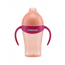 BABYMOOV TASSE 1ER AGE ANTI-GOUTTE 180ML PEACH