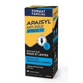 APAISYL XPRESS 15MIN ANTI-POUX ET LENTES 200ML
