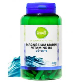 PHARMASCIENCE MAGNESIUM MARIN VITAMINE B6 200 Gélules