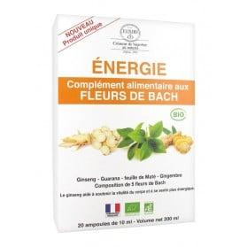 Elixirs & Co Complément Alimentaire aux Fleurs de Bach Energie Bio 20 Ampoules