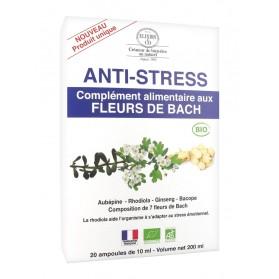 Elixirs & Co Complément Alimentaire aux Fleurs de Bach Anti-Stress Bio 20 Ampoules