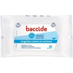 BACCIDE LINGETTES MAINS ET SURFACES - Boite de 35 lingettes
