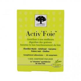 New Nordic Activ'Foie 30 Comprimés