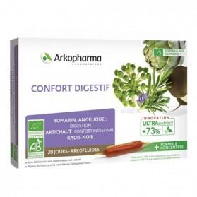 Arkofluide bio confort digestif 20x10ml ampoules