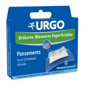 Urgo brûlures waterproof boîtes 4 pansements