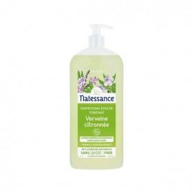 Natessance shampooing-douche verveine citronnée sans sulfates 1L