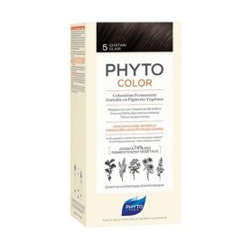 Phyto phytocolor coloration permanente 5 châtain clair 112ml