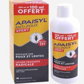 APAISYL ANTI-POUX XPERT 1H 300 ML + PEIGNE INCLUS