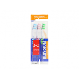 Elgydium brosse à dents inter-active souple - x2 + 1 OFFERTE