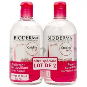 Bioderma Créaline H2O Solution Micellaire Lot de 2 x 500ml