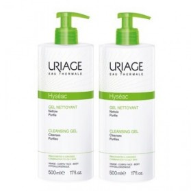 URIAGE HYSEAC Gel nettoyant purifiant - Lot de 2 x 500 ml