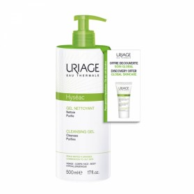 URIAGE HYSEAC GEL NETTOYANT 500ML + SOIN GLOBAL HYSEAC 3-REGUL 15ml