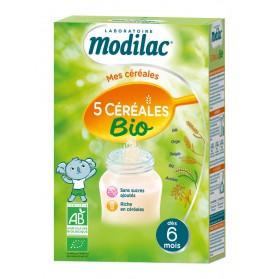 Modilac 5 Céréales Bio Dès 6 Mois 230 g