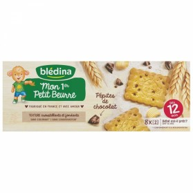 BLEDINA MON 1ER PETIT BEURRE PEPITES DE CHOCOLAT DES 12 MOIS 8 PAQUETS DE 2 BISCUITS