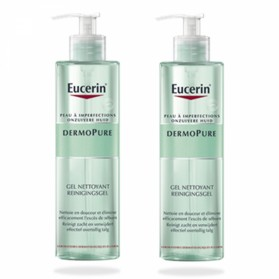 EUCERIN DERMOPURE DUO GEL NETTOYANT PEAUX A IMPERFECTIONS 2X400ML