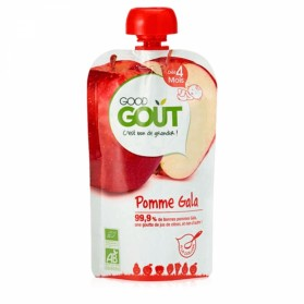 GOODGOUT PUREE DE FRUIT BIO POMME GALA 120G