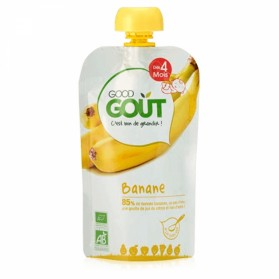 GOODGOUT PUREE DE FRUIT BIO BANANE 120G
