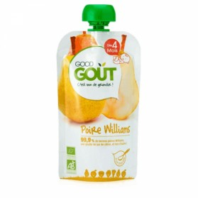 GOODGOUT PUREE DE FRUIT BIO POIRE WILLIAMS 120G